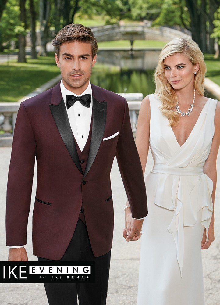 Ike Behar Evening Burgundy \'Marbélla\' Tuxedo Style No. C1023 Ike ...