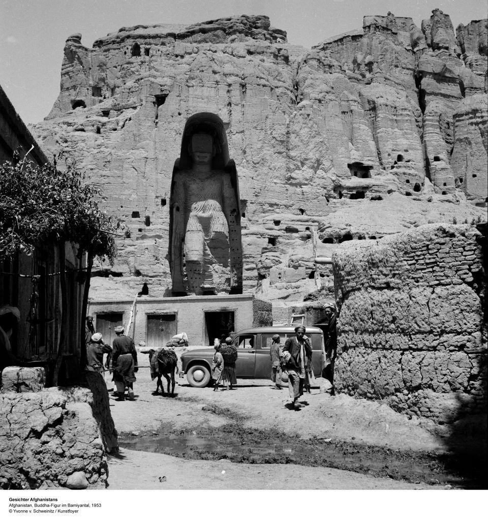 The Buddhas Of Bamiyan A D 591 644 Photo Taken In 1953