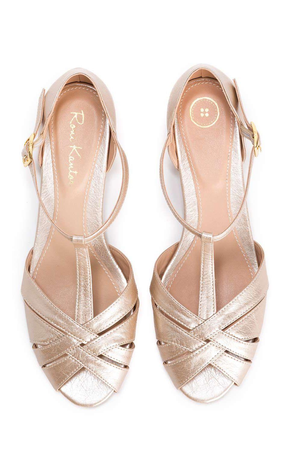 Champagne bridal sandals peep toe vegan beautiful