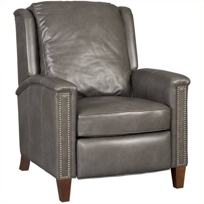 Lowest Price Online On All Furniture Leather Recliner Chair In Empyrean Charcoal Rc517