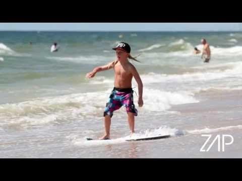 Zap Skimboards Tricks+Tips: #3 Three Sixty  this kid is a joog