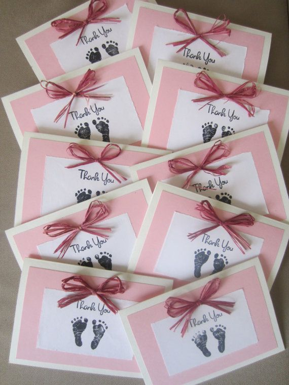Baby Girl Thank You Cards $5000, via Etsy Cards Pinterest