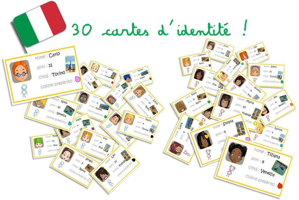 Carte Italie Jeux.Jeux Autour Des Cartes D Identite En Italien Italie