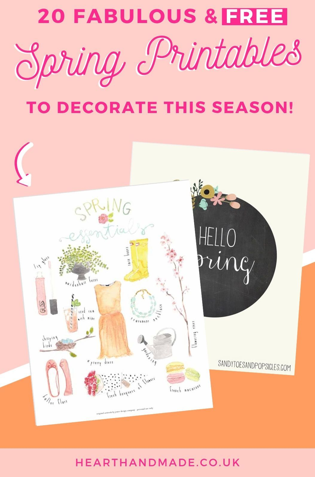 Art Decorating And Crafting 20 Fabulous Free Spring Printables Craft Ideas Diy Home Decor