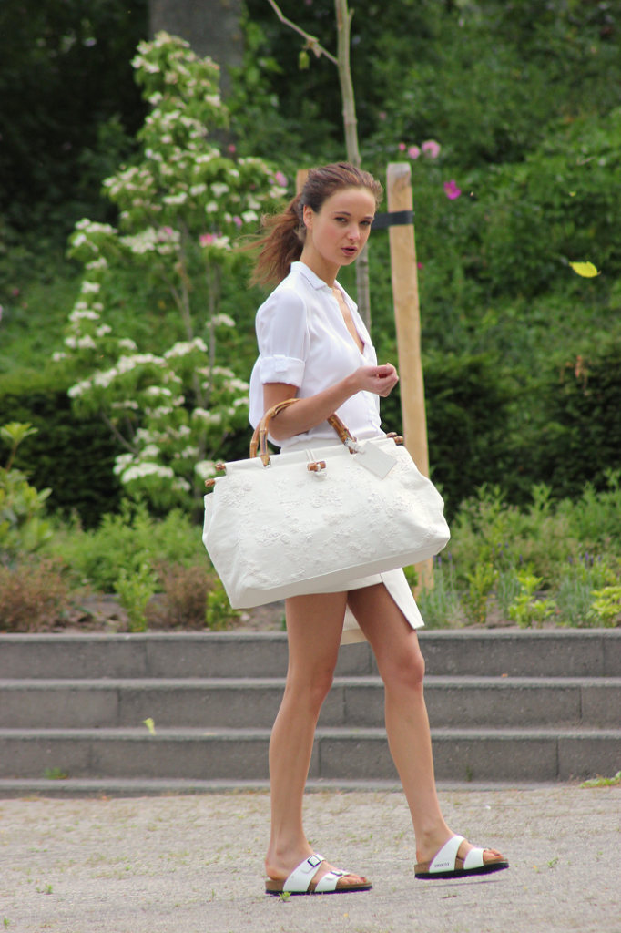 All white with birkenstocks from Mode D'Amour