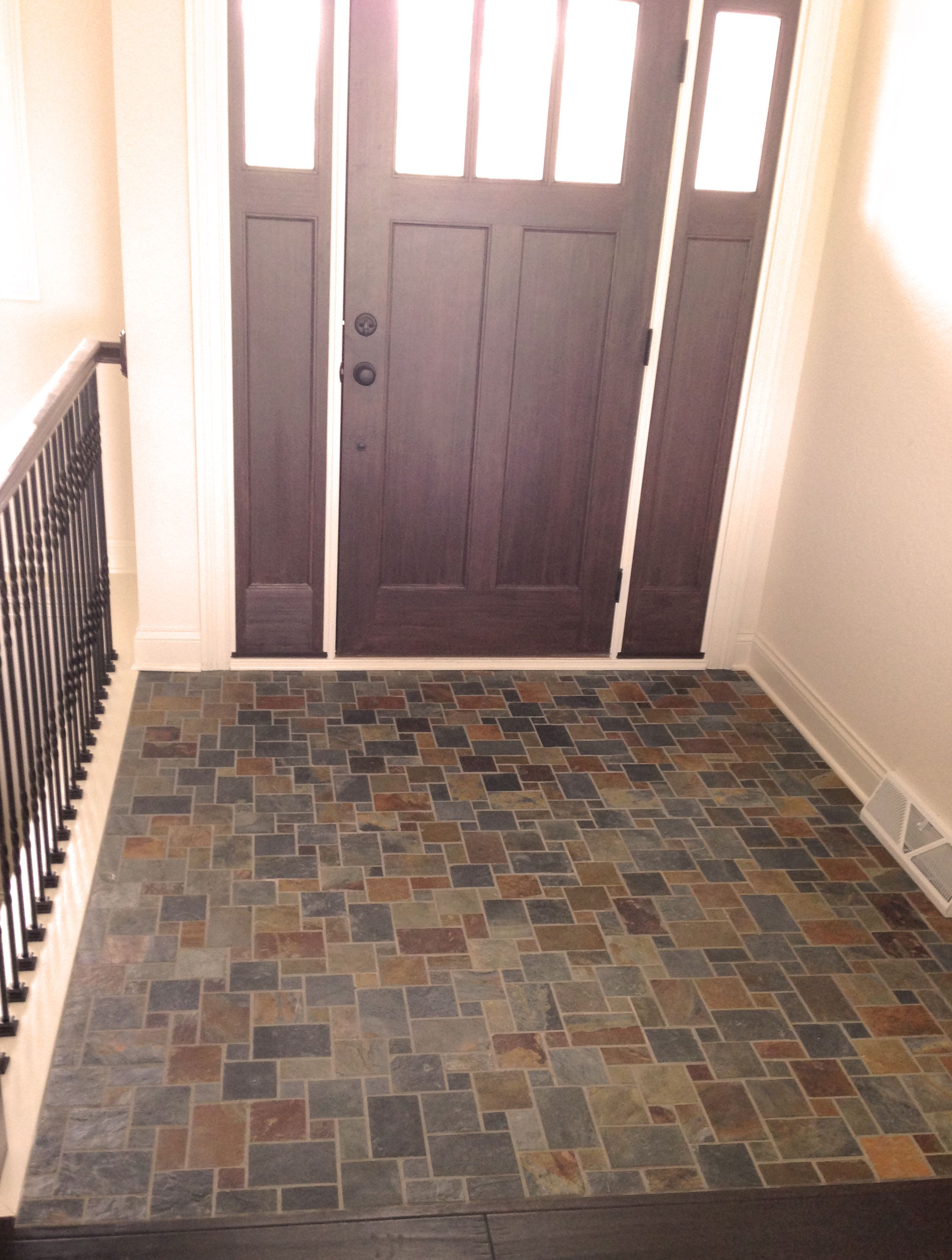 Using a versailles pattern for entry tile offers a nice using a versailles pattern for entry tile offers a nice distraction to the small area that dailygadgetfo Images