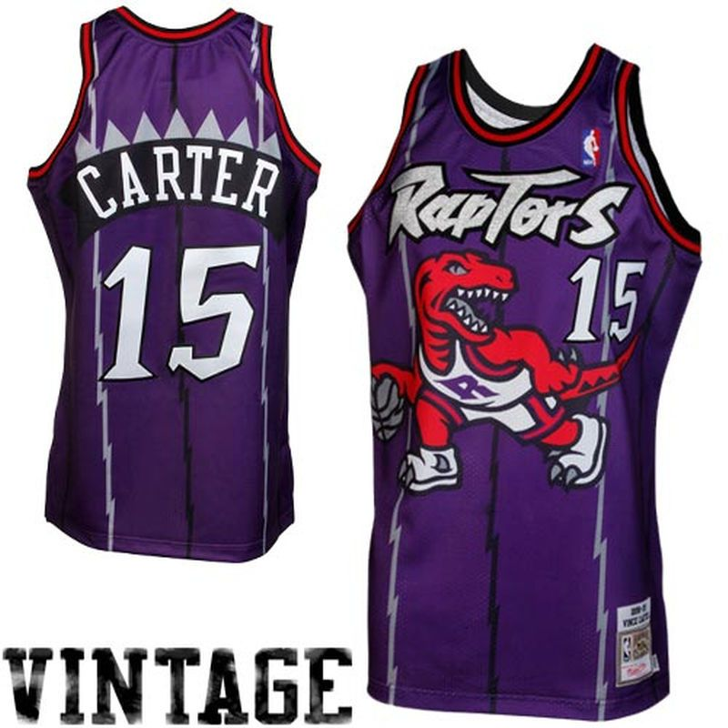 Mitchell   Ness Vince Carter Toronto Raptors 1998-1999 Throwback Authentic  Jersey - Purple fd749c8c1c8