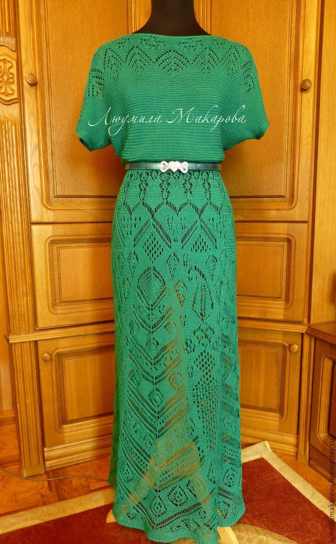 """Купить Платье """"Шетландские кружева"""" - морская волна, однотонный, платье, Платье нарядное, платье летнее"""
