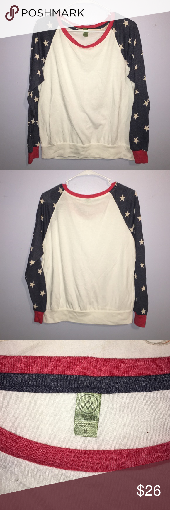 American flag shirt very soft cotton t from south moon under tops