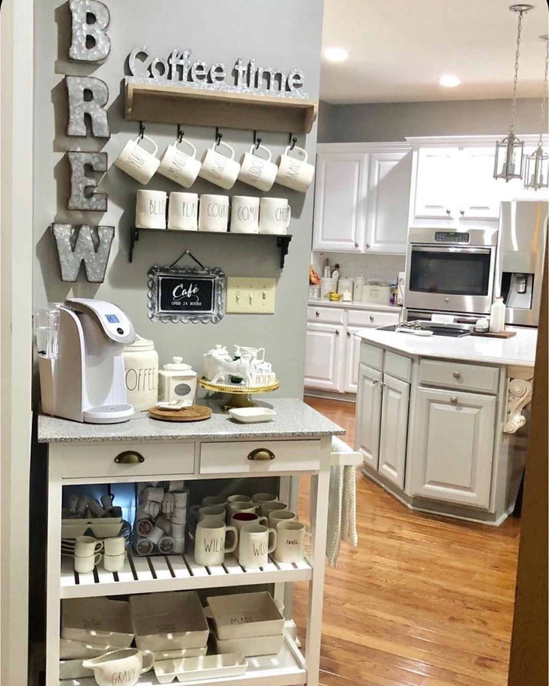 Cecile S Instagram Post Thank You Loveandmarriageblog For Featuring My Coffee Station On Pinterest This Kitchen Remodel Home Coffee Stations Kitchen Design