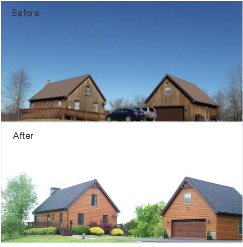Old Rough Cedar Siding Redone With Woodtone Rustic Series Lp Smartside In Old Cherry Cedar Homes House Exterior House Siding
