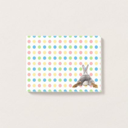 Easter bunny tail butt rabbit pastel dots post it notes office easter bunny tail butt rabbit pastel dots post it notes office negle Image collections