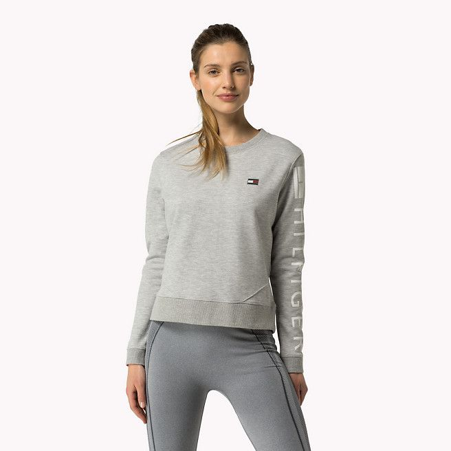 tommy hilfiger hilfiger athletic sweatshirt light grey htr grey tommy hilfiger sweatshirts. Black Bedroom Furniture Sets. Home Design Ideas