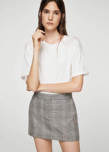 Prince of Wales wool-blend skirt Polleras Cortas e816cfb3cf41
