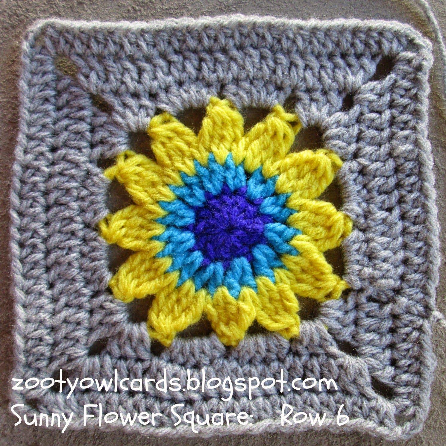 sunflower granny square ~ free pattern ✿⊱╮Teresa Restegui http ...