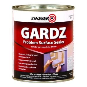 Zinsser GARDZ 1 qt. Clear WaterBased Interior Problem