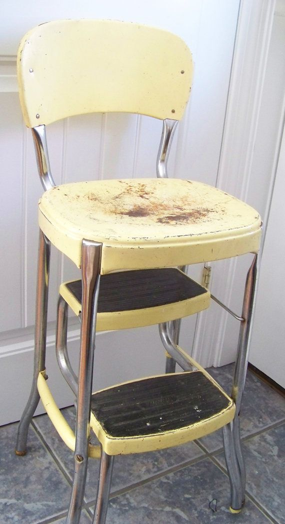 Retro 1960s Kitchen Step Stool With Two Pull By Hopeishipofmaine 45 00