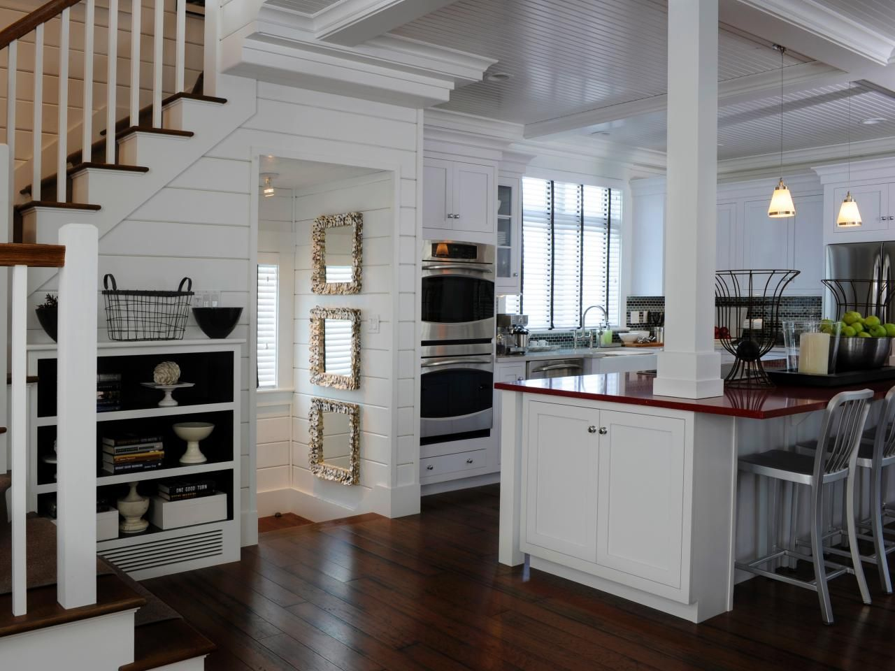 Kitchens With Columns 12 cozy cottage kitchens | hgtv, kitchens and countertop