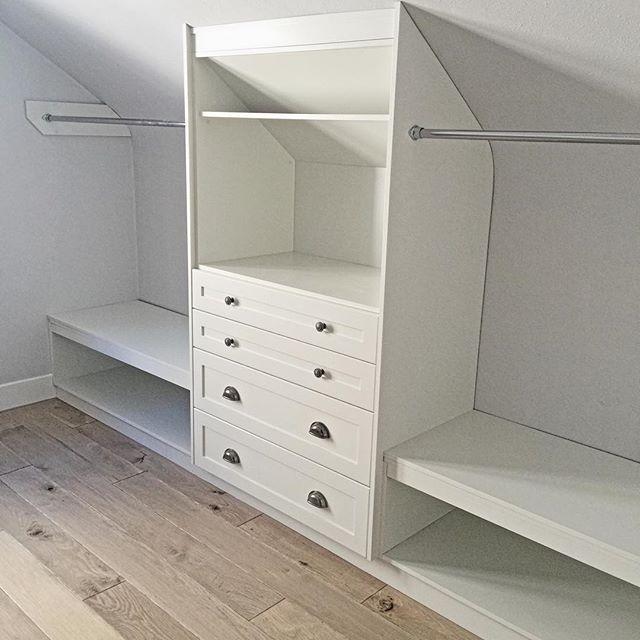 Storage under the roof, wardrobe | Stauraum unter der Schräge, Kleiderschrank #loftconversions