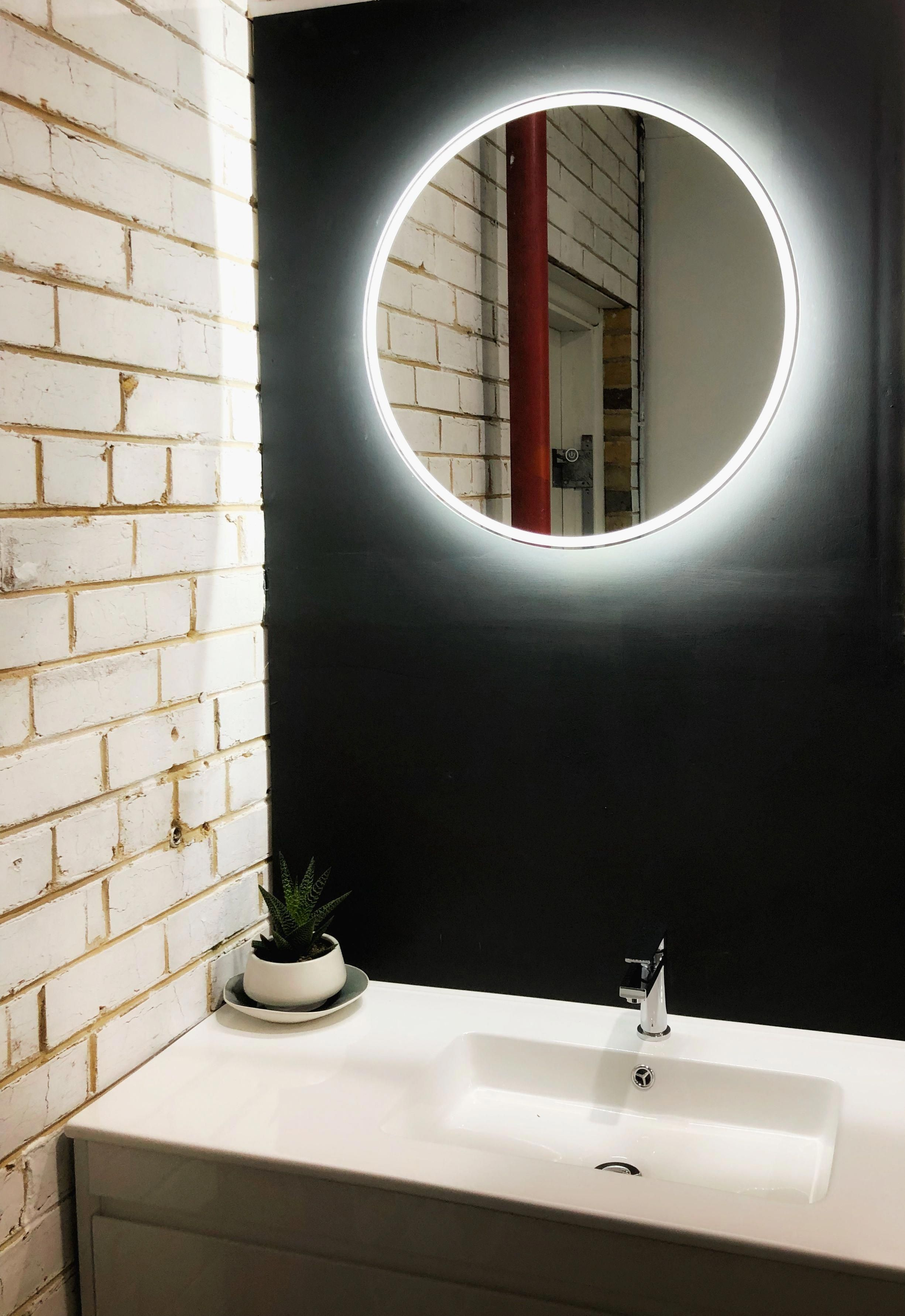 Designer Bathroom Bin Backlit Bathroom Mirror Bathroom Mirror