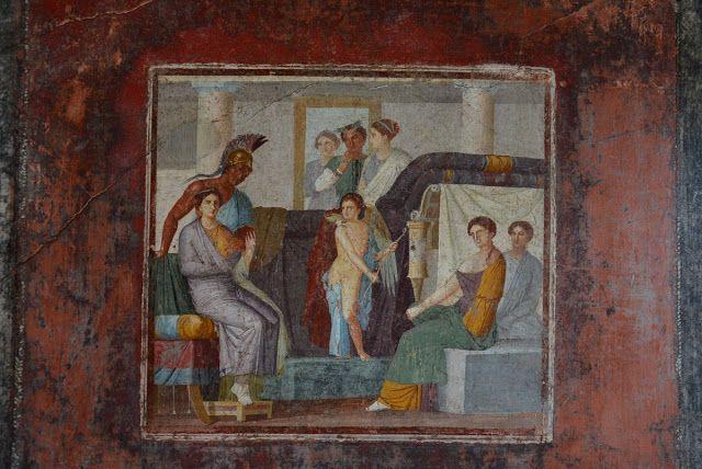 fresco depicting the wedding of venus and mars  ancient
