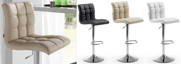 Taburete alto con respaldo y sillas altas de cocina for Taburetes altos con respaldo
