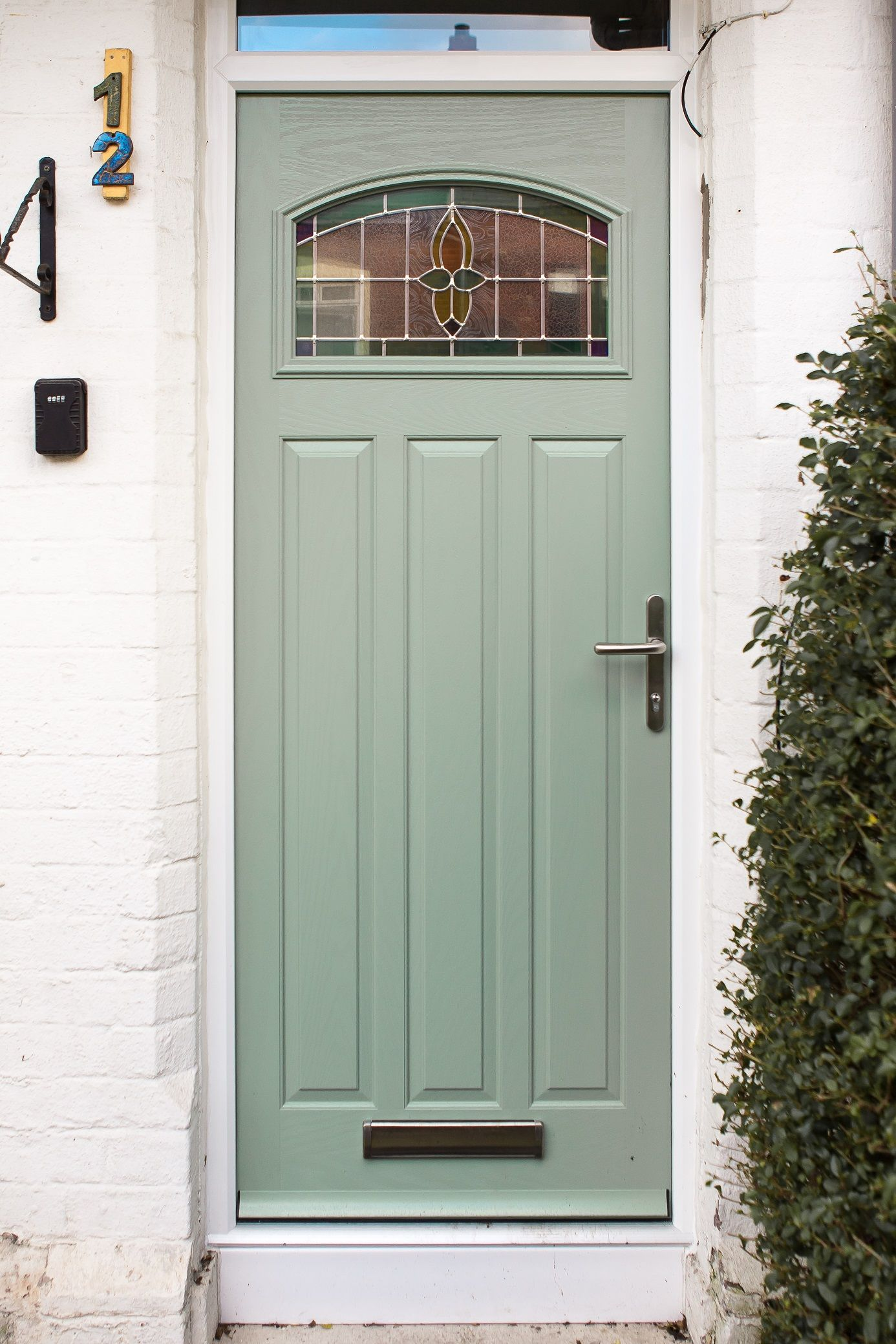 Virtuoso Malton composite door in Sage Green. Available from ...