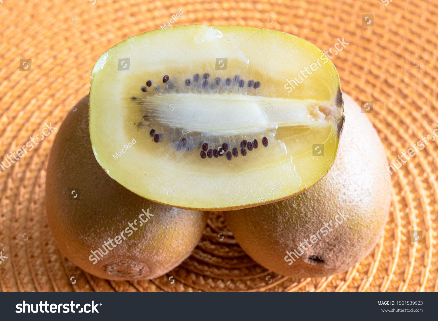 Cross section of a golden kiwi fruit. The image shows the seeds and flesh of the fresh natural food. #Sponsored , #affiliate, #kiwi#fruit#image#Cross