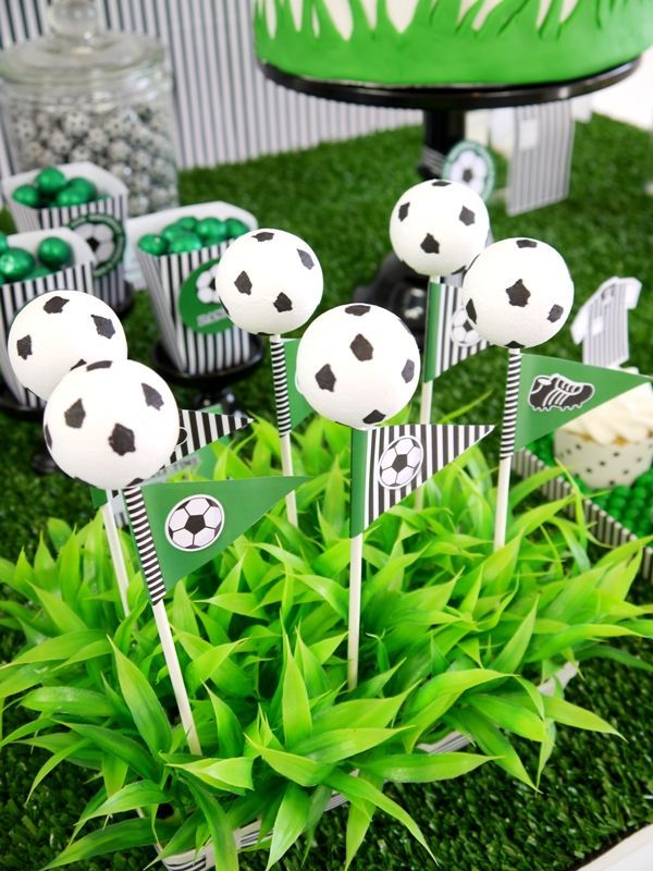 Soccer Football Birthday Party Desserts Table Printables Soccer Birthday Parties Soccer Theme Parties Soccer Birthday