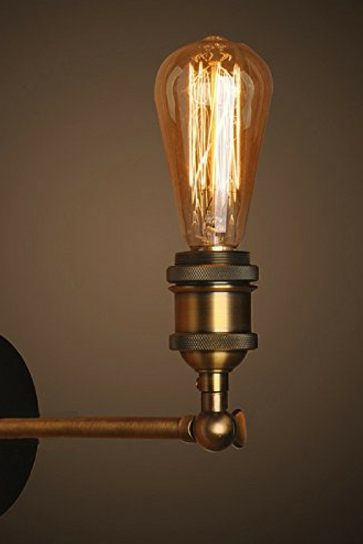 Retro Vintage Wall Lights Fitting Industrial Style Copper Head Wall Sconce Antique Br Wall Lights Antique Brass Industrial Wall Lights Industrial Wall Sconce