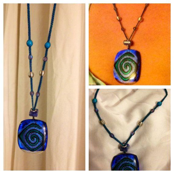 Blue Spirals by DevikaKnotters on Etsy, $35.00