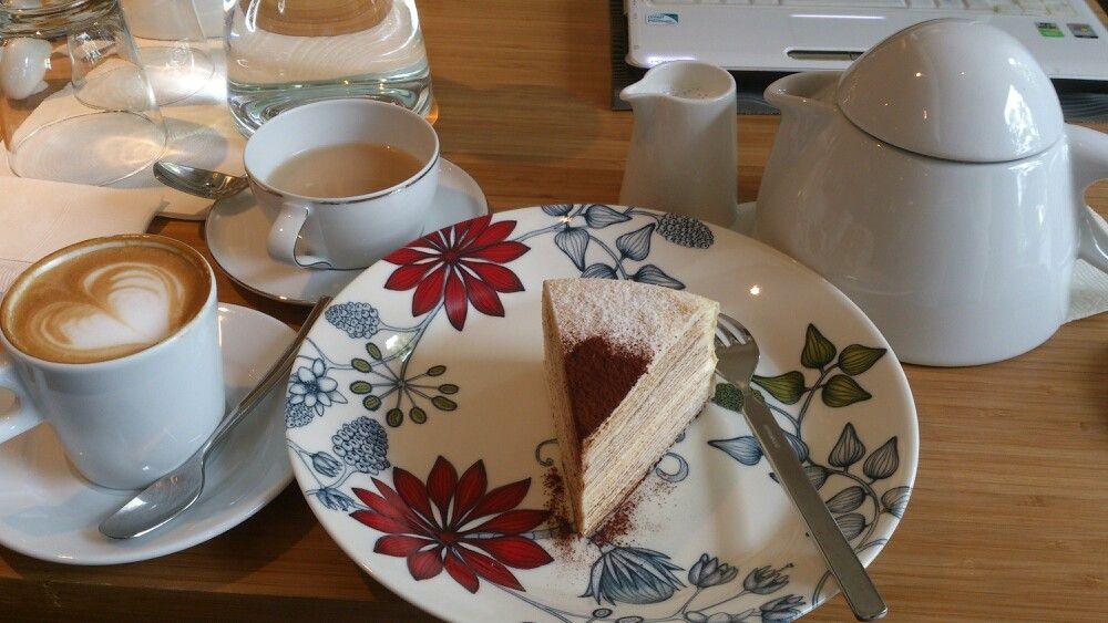 法式千層、拿鐵、鮮奶茶 @ORO CAFE