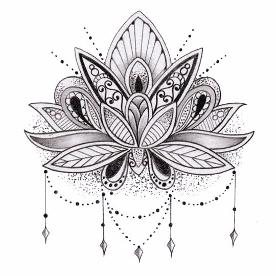Tatouages Temporaires Fleur De Lotus Tatouages Mandala Tatouage Temporaire Tatouage De Lotus