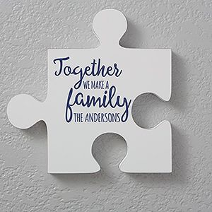 Personalized Family Quotes Wall Puzzle Pieces Quote 1