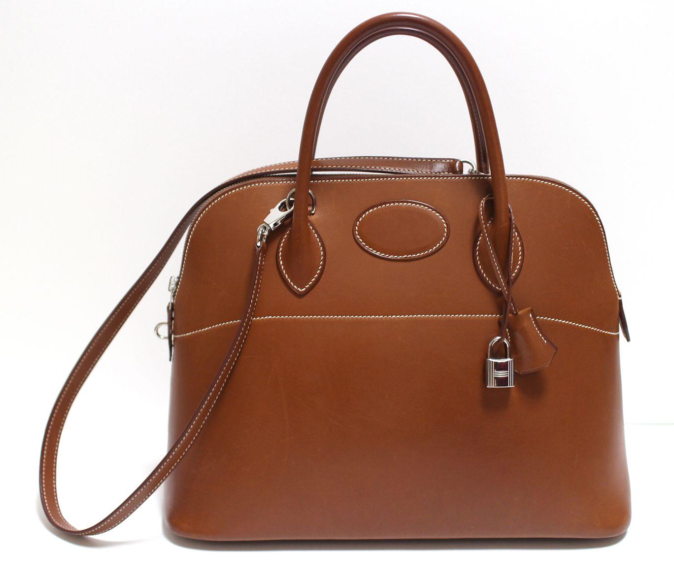 b8488606d2ec Hermes Bolide 37cm Fauve Barenia Palladium HW handbags leather