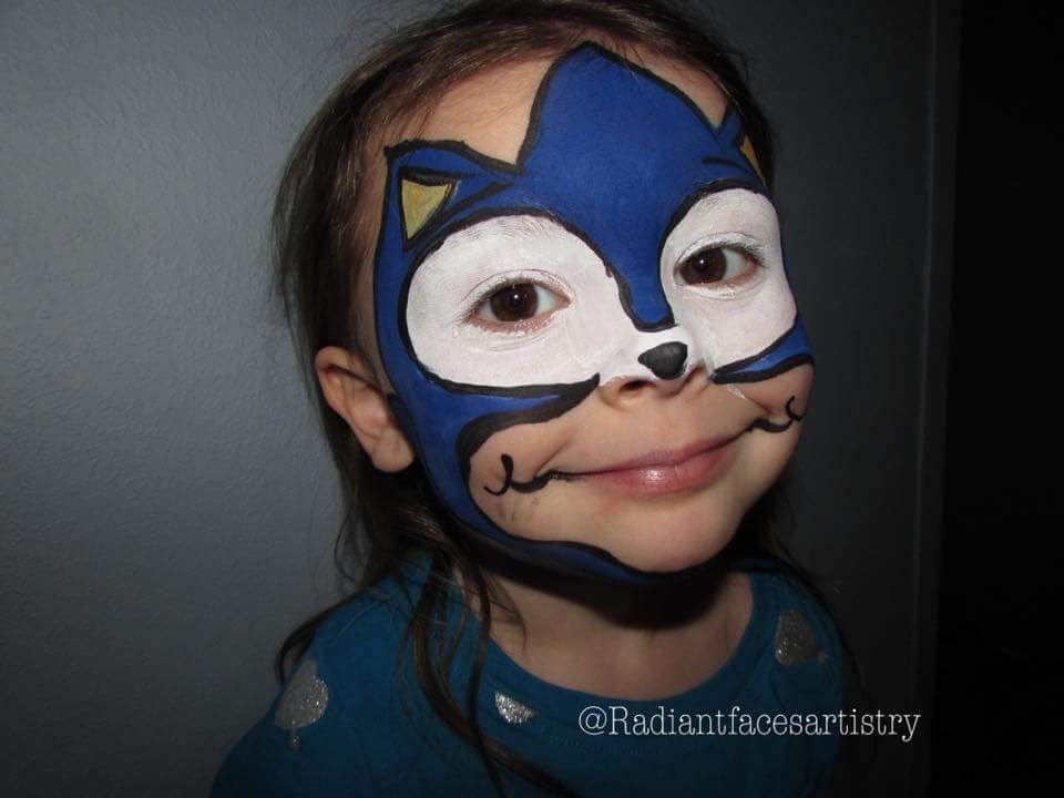 Sonic The Hedgehog Face Paint Sonic Face Face Painting Face