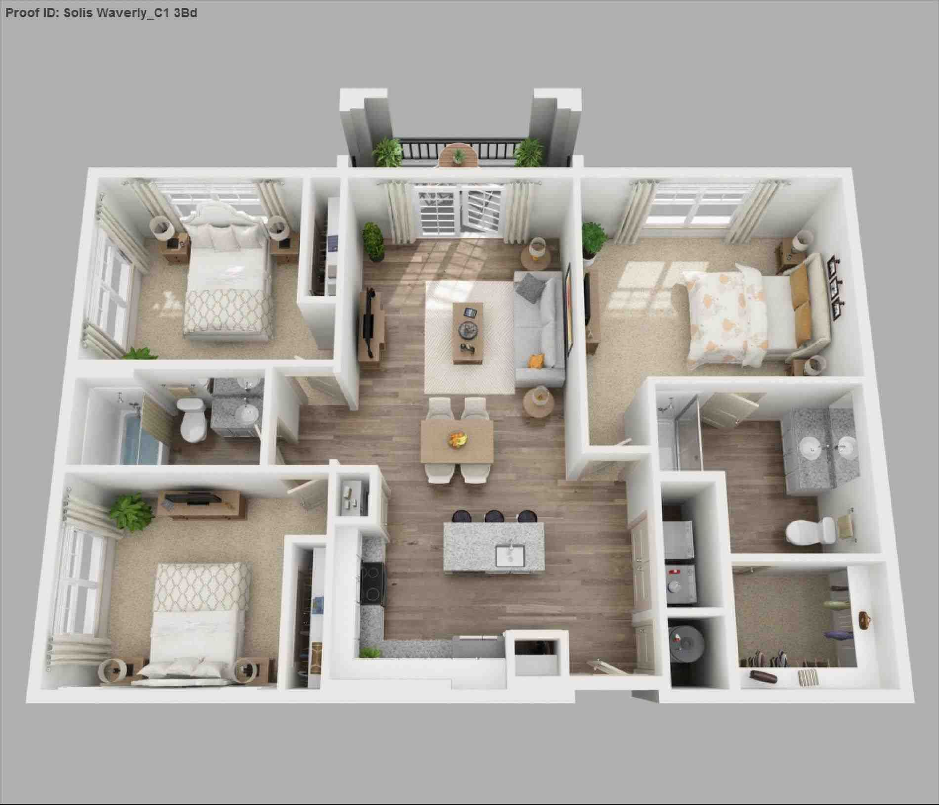 1 Bedroom Apartment Plans