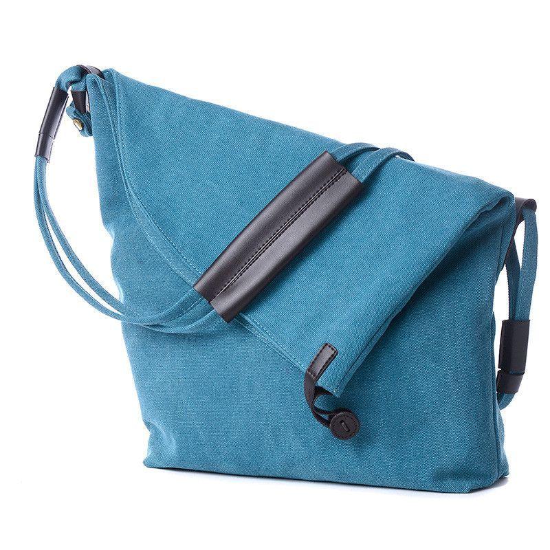 2016 Fashion Women Handbag Canvas Shoulder Bag Messenger Crossbody Bags Satchel Solid Color Casual Tote Wholesale