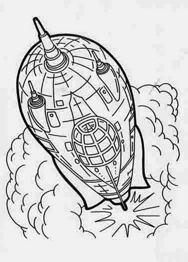 Rockets Ship Rocket Flash Gordon Coloring Page