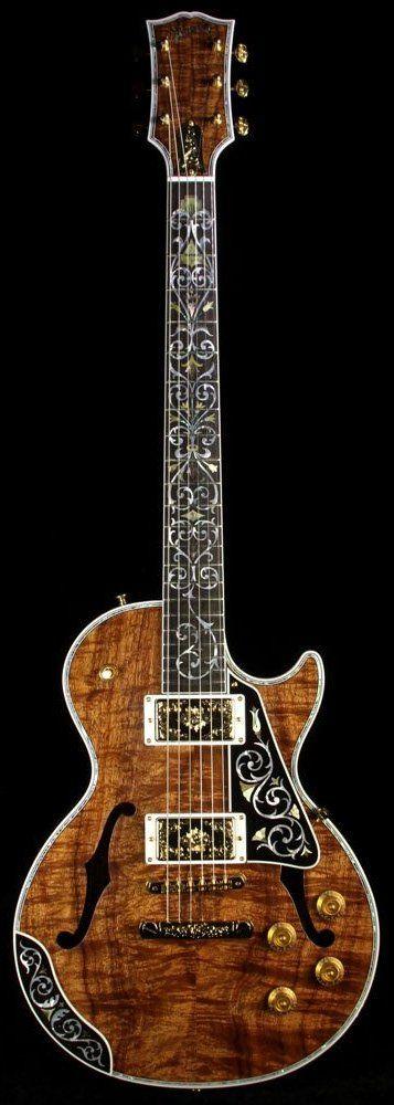 glorifiedguitars: Gibson Custom Shop Bella Voce Koa Les Paul [Source: The Music Zoo. Price: 19882/$25000] --- https://www.pinterest.com/lardyfatboy/