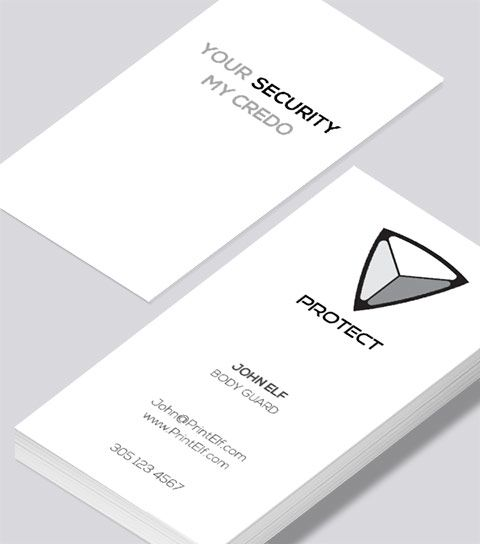 Modern contemporary business card design protection secure modern contemporary business card design protection secure business card reheart Gallery