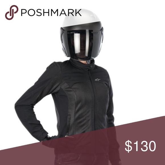Alpine Stars Eloise Jacket All Black Summer motorcycle riding jacket. Shoulder and elbow armor included alpine stars Jackets & Coats