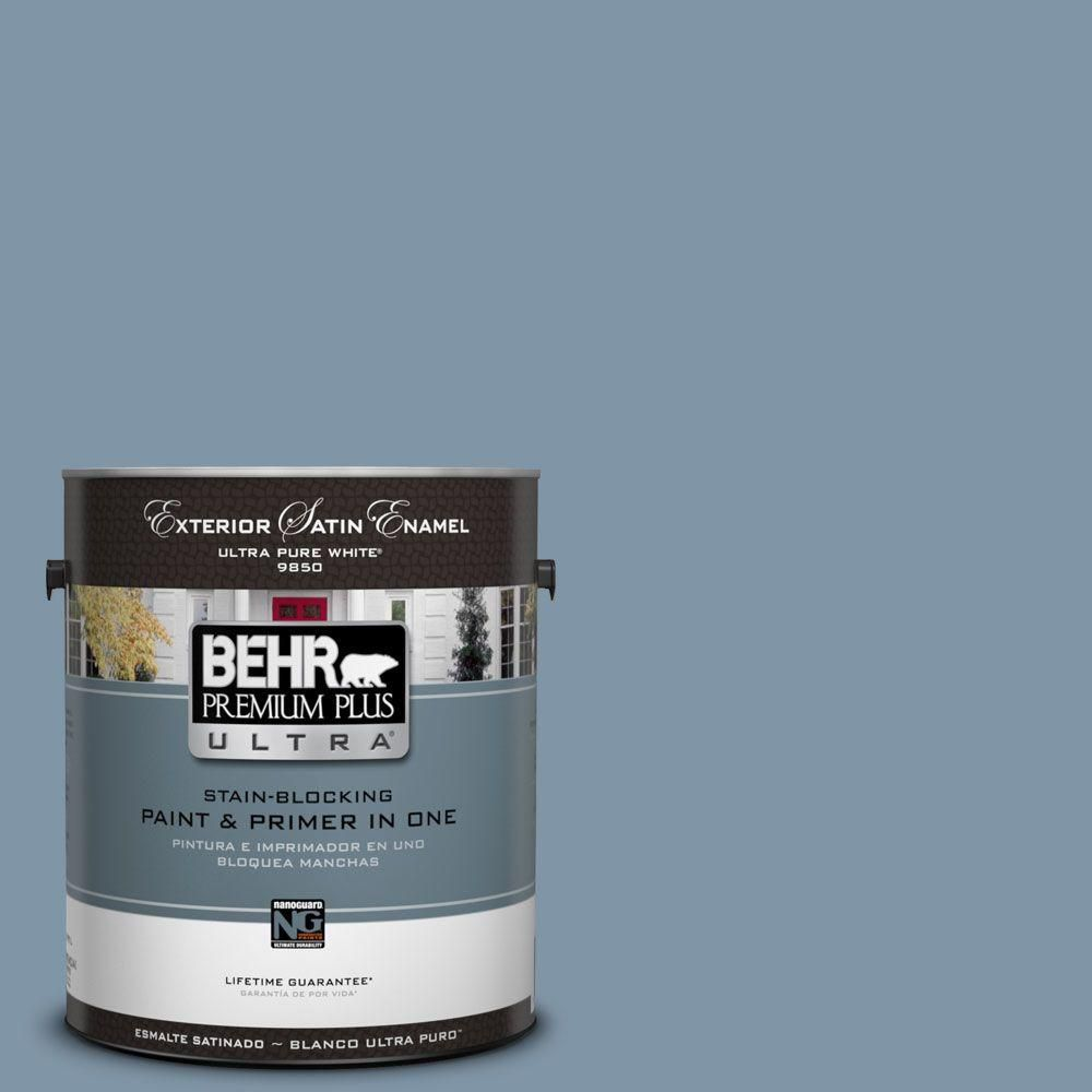 Behr Premium Plus Ultra 5 Gal 560f 5 Bleached Denim Matte Interior