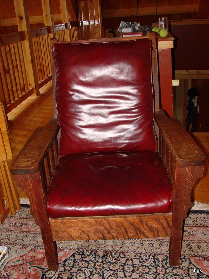 Antique Heavy Mission Oak Arts Crafts Lounge Chair - Antique Heavy Mission Oak Arts Crafts Lounge Chair Arts And Crafts