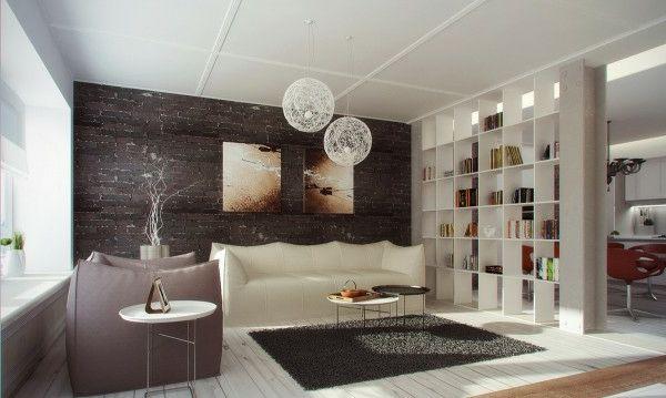 30 Raumteiler Ideen - von Paravent bis Regal für jeden Geschmack - raumteiler ideen wohnzimmer