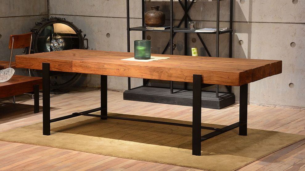 Rustic Industrial Dining Table, Rustic Dining Room Furniture