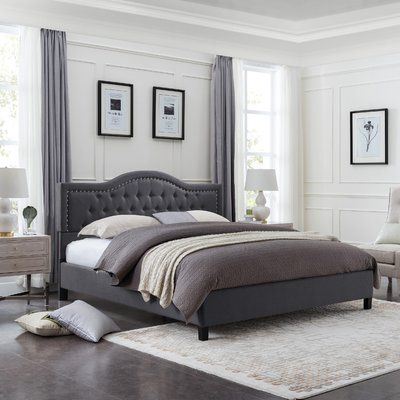 Charlton Home® Wynsum Queen Tufted Upholstered Platform Bed | Wayfair