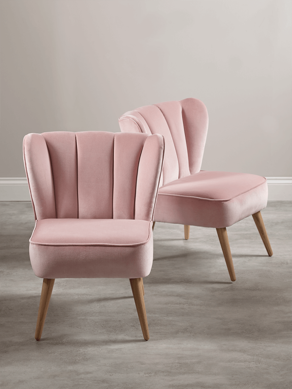 Best Westbury Velvet Chair Blush Pink Dining Rooms Velvet 400 x 300