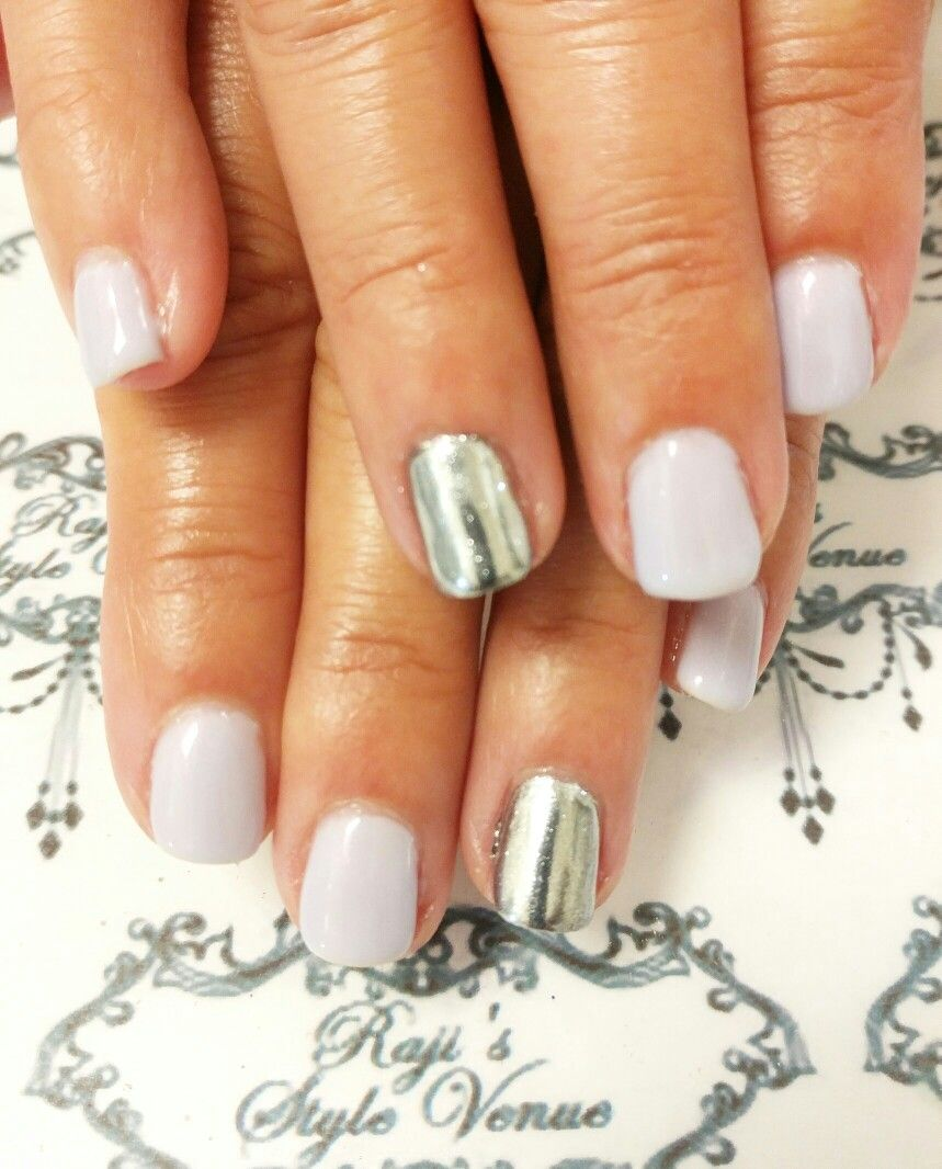 Spring Mix with Cuccio Veneer & Chrome Accent nails. | Nail designs ...