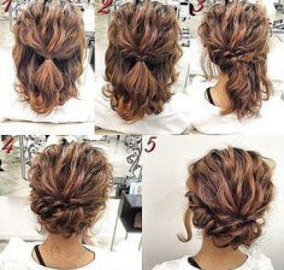 Easy Bridesmaid Hairstyles For Short Hair Simple Prom Hair Hair Styles Short Hair Tutorial